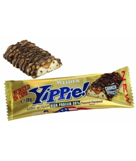 YIPPIE BAR CACAHUETE-CARAMELO 70GR,